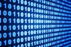 Binary background. Blue binary background - 3d render Royalty Free Stock Photos