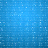 Binary background with blue digits Stock Photos