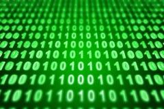 Binary background. Green binary background - 3d render Stock Photos