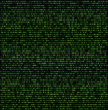Binary background with green digits. Vector illustration Royalty Free Stock Photos