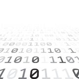 Binary background with grey digits Stock Photos