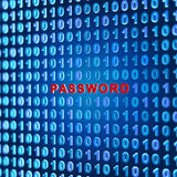 Binary background. Password - 3d render Stock Photography