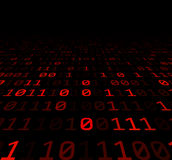 Binary background with red digits Royalty Free Stock Photos