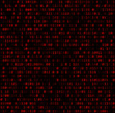 Binary background with red digits Stock Photo
