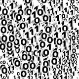 Binary background, zero - one Stock Photo