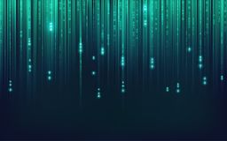 Binary BG. Graphic of abstract futuristic binary background Stock Photo