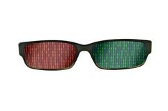 Binary black eyeglasses frames Stock Photos