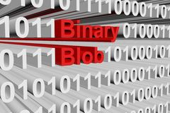Binary blob. In a binary code 3D illustration Stock Image