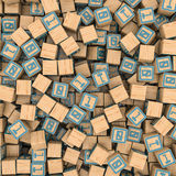 Binary blocks background Royalty Free Stock Photos