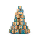 Binary blocks pyramid Stock Photos