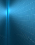 Binary blue. Blue grid abstract with stream of binary Royalty Free Stock Photo