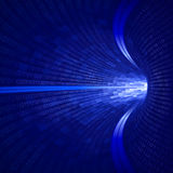 Binary Blue Tunnel Royalty Free Stock Photo