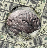 Binary Brain US Currency Royalty Free Stock Images