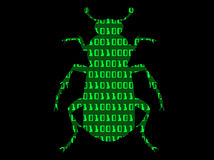 Binary bug stock photo