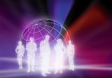 Binary Business People Stock Image