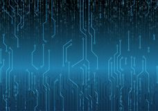 Binary circuit board future technology, blue cyber security concept background, . Web Developer. Computer Code. Abstract Technology Background. Web Developer Stock Image