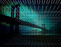 Binary City Stock Images