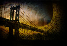 Binary City Royalty Free Stock Images
