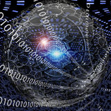 Binary Clock Royalty Free Stock Images