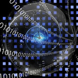 Binary Clock Royalty Free Stock Photography