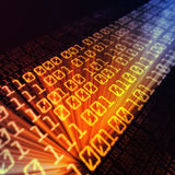 Binary code. Illustration of computer binary code Stock Photo