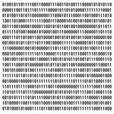 Binary code. Black binary code on a white background Stock Photo