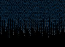 Binary code 2. Binary code on the dark background Stock Photography