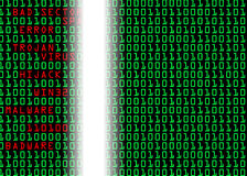 Binary Code. In registry with errors and virus repair Royalty Free Stock Images