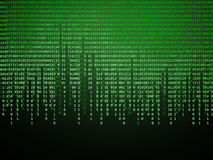 Binary code. Green technology background Stock Images