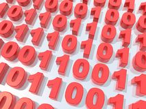 Binary code. A 3d picture to illustrate binary code Stock Photography