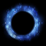 Binary code. Blue ring with binary code - concept of information Royalty Free Stock Photography