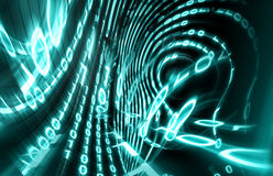Binary code. Background on digital screen 3d render.Internet concept Royalty Free Stock Photography