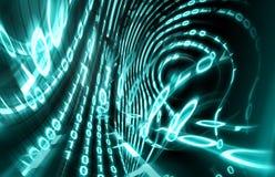 Binary code. Background on digital screen 3d render.Internet concept Vector Illustration