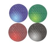 Binary code. Abstract background of 4color binary code royalty free illustration