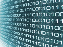 Binary code. Zeros and Ones - binary code background stock image