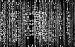 Binary Code. Arrangement of zero's and one's on a black background Royalty Free Stock Images