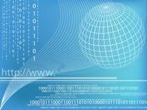 Binary code. Data background illustration stock illustration