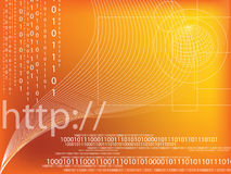 Binary code. Data background illustration Royalty Free Stock Images