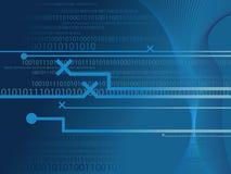 Binary code. Data background illustration Stock Photo