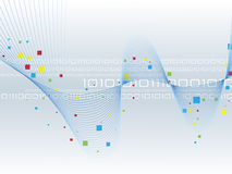 Binary code. Data background illustration Stock Images