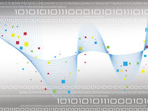Binary code. Data background illustration Royalty Free Stock Photo