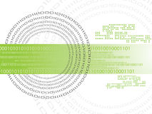 Binary code. Data background illustration Stock Photography