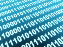 Binary code. Internet concept - 3d binary code Royalty Free Stock Image