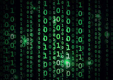 Binary code in abstract background Stock Images