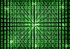 Binary code in abstract background. VECTOR, EPS10 Royalty Free Stock Photo