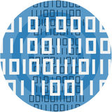 Binary Code Abstract Icon Illustration. Stock Images