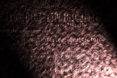 Binary code. Abstract tech binary code background Stock Photos
