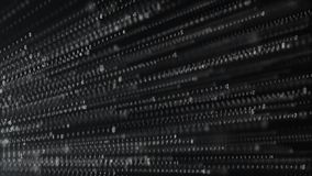 Binary code abstract technology background. Big data. Coding or hacker concept. Binary code. Computer techologies stock illustration