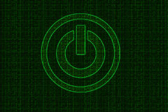 Binary code abstract technology theme background with power Stock Images