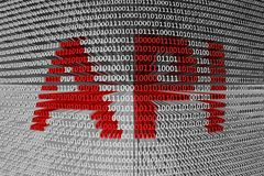 The binary code of the application programming Interface Stock Image